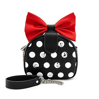 Disney Minnie Mouse Polka with Red Bow Crossbody Purse