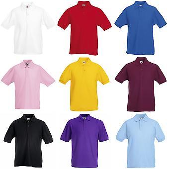 Vrucht van de Loom Childrens/Kids Unisex 65/35 Pique Polo Shirt