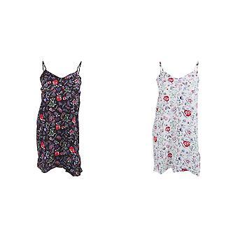Womens/Ladies Sleeveless Floral Printed Pyjama Nightdress