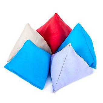 Gardenista - France Pack de 5 ' Tissu de coton durable (fr) Triangulaire en forme Juggling Throw Bean Bags (fr) Jeux de jardin PE et Sports (fr) À l'intérieur et à l'extérieur Assortis