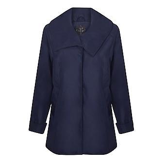 VIZ-A-VIZ  Navy Large Collar Jacket