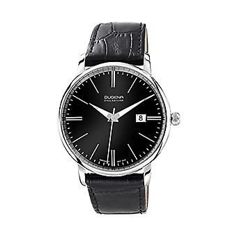 Dugena Premium 7000180-men's wristwatch, leather, color: black