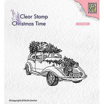 Nellie-apos;s Choice Clearstamp - Christmas Time Christmas tree Transport CT031 70x50mm