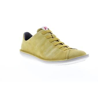 Camper Beetle Mens Yellow Suede Low Top Lace Up Euro Sneakers Chaussures