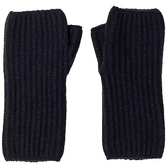 Johnstons of Elgin Ribbed Cashmere Wristwarmers - Navy