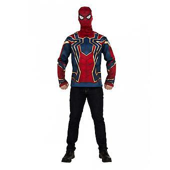 T-shirt et masque Iron spider Infinity War adulte