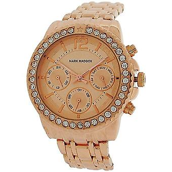 Set de Rhinestone Ladies Mark Maddox lunette cadran multifonction Watch MM6004-95