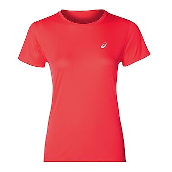 Asics Silver Icon Womens Ladies Running Fitness Training T-Shirt Tee Pink