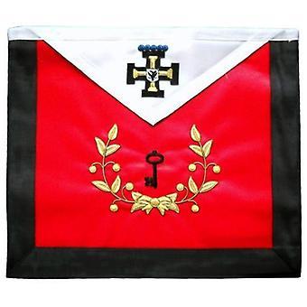 Masonic scottish rite masonic hand embroidered apron - aasr - 27th degree