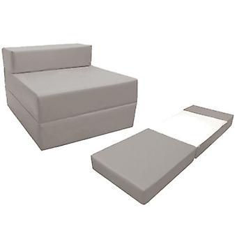 Loft 25 Confortável Fold Out Z Cadeira de Cama em Prata. Macio, confortável e leve com uma tampa resistente à água removida.