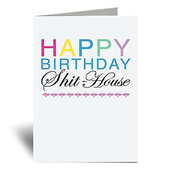 יום הולדת שמח כרטיס בית מחורבן A6 כרטיס ברכה