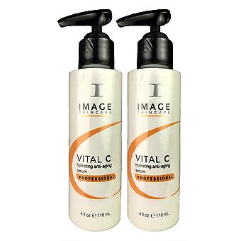 Image vital c hydrating face anti-aging serum professional 4 oz duo pack