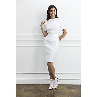 White woman dress