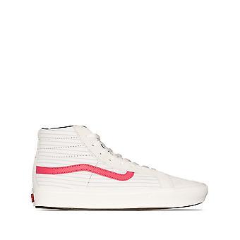 Vans Ezcr011005 Uomini's White Leather Hi Top Sneakers