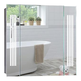 LED Bathroom Mirror Cabinet 60cm(H) x 65cm(W) Bluetooth Speakers C29