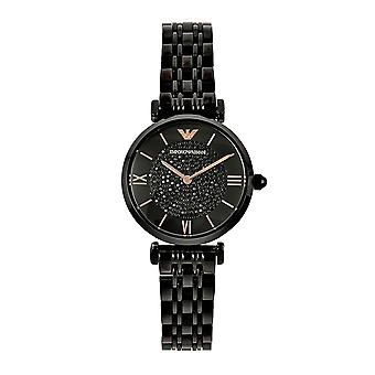 Armani Watches Ar11245 Black & Rose Gold Ladies Watch