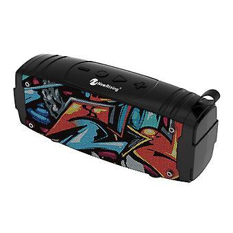 NewRixing Soundbox Wireless Speaker Bluetooth 5.0 External Wireless Speaker Graffiti