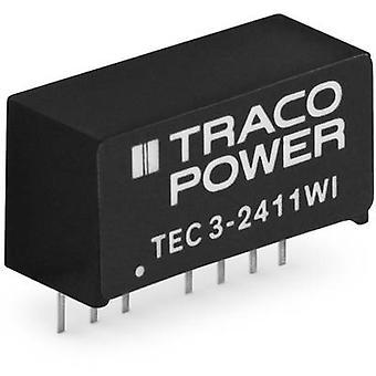 TracoPower TEC 3-1212WI DC/DC-Wandler (Druck) 12 V DC 250 mA 3 W Nr. der Ausgänge: 1 x