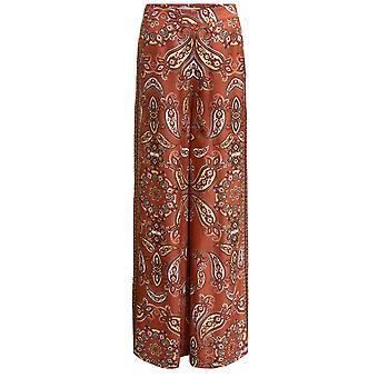 Oui Paisley Print Wide Leg Trousers