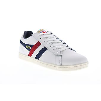 Gola Equipe  Mens White Leather Lace Up Lifestyle Sneakers Shoes