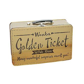 Roald Dahl Charlie and the Chocolate Factory Golden Ticket Lunch Box