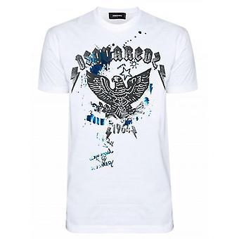 DSQUARED2 Eagle Print Logo Valkoinen T-paita