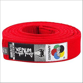 Venum wkf approved karate belt red