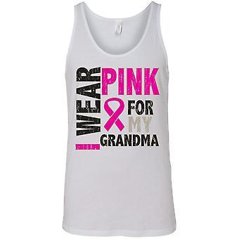 Tanque pecho cáncer conciencia hombres usar color de rosa para mi abuela