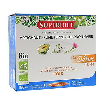 My targeted detox Artichoke Organic Liver 10 ampoules of 15ml