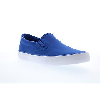 Lugz Clipper  Mens Blue Canvas Slip On Lifestyle Sneakers Shoes