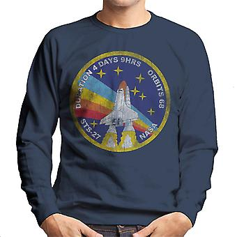 NASA STS 27 Atlantis Mission Badge Distressed Men's Sweatshirt