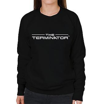 The Terminator Title Font Logo Text Women's Sweatshirt