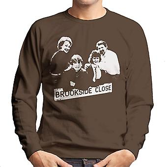 TV Zeiten Brookside Cast 1985 Herren Sweatshirt