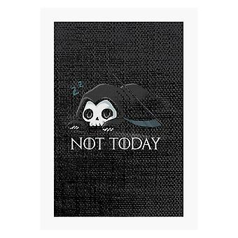 Not Today Sleeping Skull A4 Print