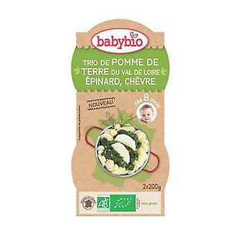 Bowl Menu Potatoes Spinach Organic Goat (from 8 months) 2 units of 200g