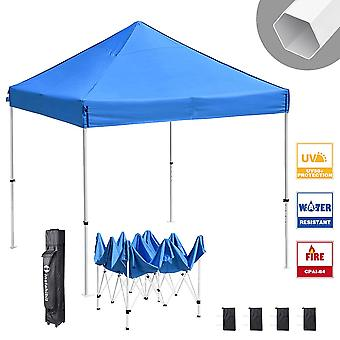 Instahibit 10x10 ft Pop Up Canopy Tent CPAI-84 Commercial Outdoor Canopy Shade Trade Fair Party Tent 1680D Roller Bag