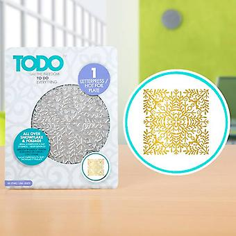 TODO Hot Foil Press All Over Snowflake & Foliage