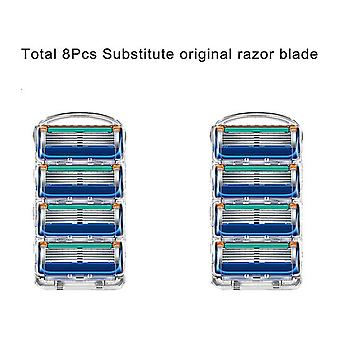 Replaceable Razor Blades Shaving Cassettes - 5 Layers Stainless Steel