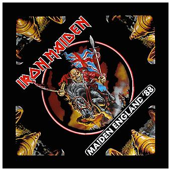 Iron Maiden Bandana Classic Maiden England 88 Official New Black (21in x 21in)