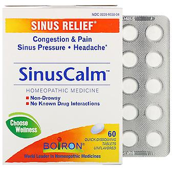 Boiron, SinusCalm, Sinus Relief, Unflavored, 60 Quick-Dissolving Tablets