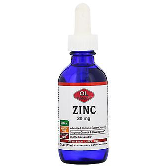 Laboratoires olympiens, Zinc, 30 mg, 2 fl oz (59 ml)