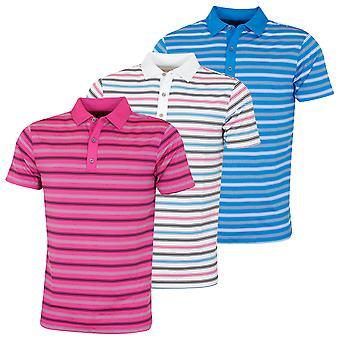 Bobby Jones Mens Rule 18 Tech Riviera Stripe Stretch Golf Polo Shirt