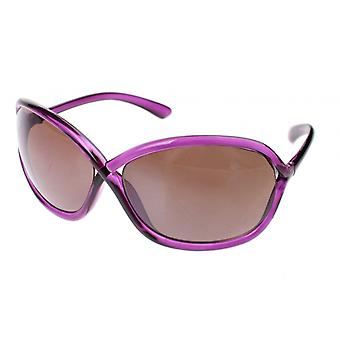 Sunglasses Women's Purple with Brown Glasses (A60391)