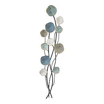 3D-Layered Stemmed Flowers Metal Wall Decor