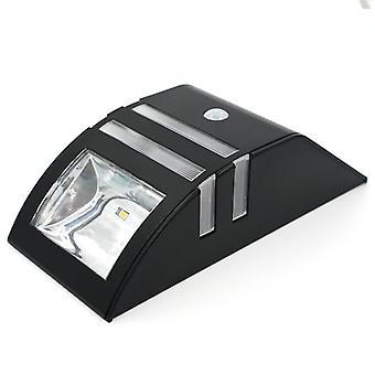 Väggmonterad solcellslampa IP65 - Svart