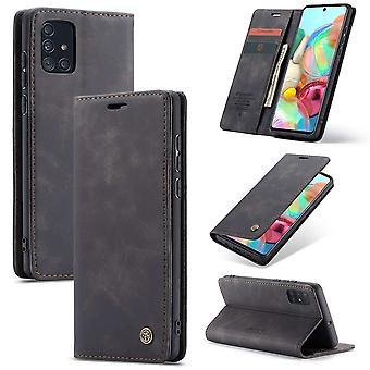 Retro Wallet Slim for Samsung A71 Black
