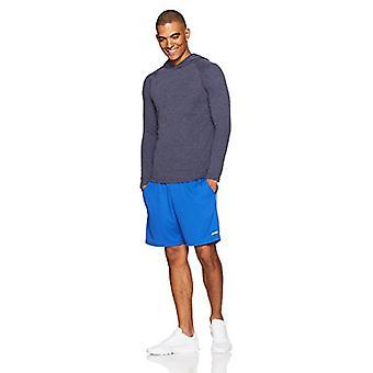 Essentials Men's Performans Kapüşonlu Gömlek, Lacivert Heather, Orta