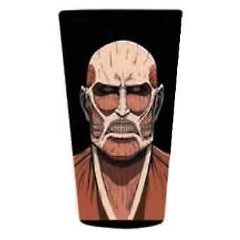 Pint Glass Attack on Titan Colossal Titan Pint Licensed - gls-aot-col