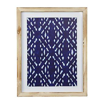 """11"""" X 14"""" Geometric Design Framed Wall Art with Glass Features"""