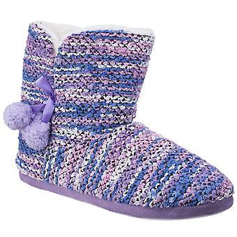 Divaz femenil viena zapatilla de botín de punto multicolor 25585-42604